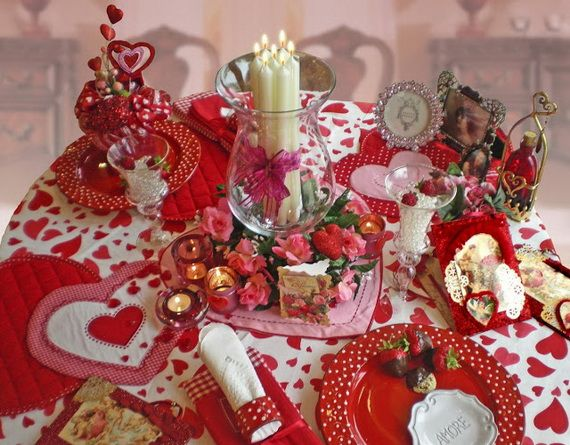 15 Romantic Valentine\'s Day Table Decorations | Pretty dishes ...