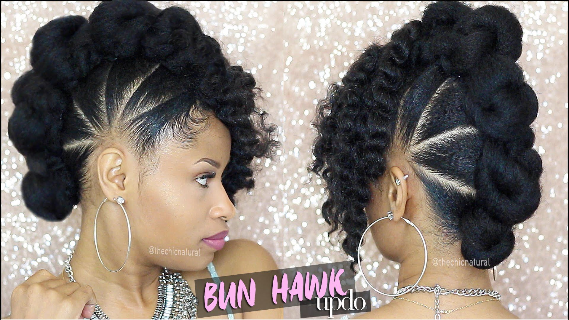 BAD AZZ BUN-HAWK UPDO Natural Hair Tutorial - YouTube | Girl Love Your Hair! in 2019 | Natural ...
