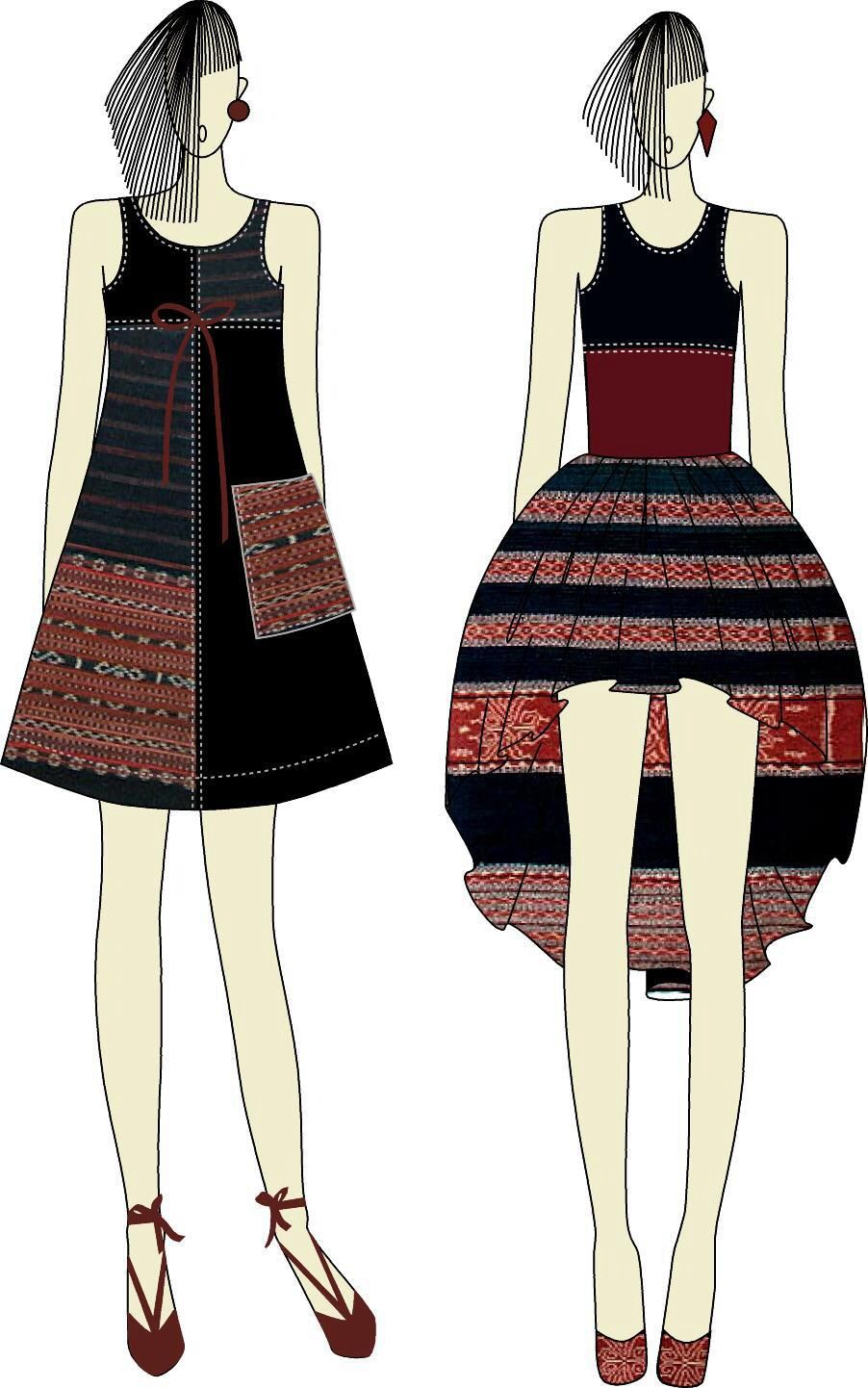 Ikat Weaving dress by Ivonne