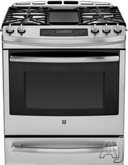 Ge Pgs920sefss 30 Inch Slide In Gas Range With Gas Convection Self Clean Reversible Grill Griddle 5 6 Cs Ft Oven Capacity Tri Ring Burner Continuous Grate Slide In Range Dual Fuel Ranges Ge Gas Range