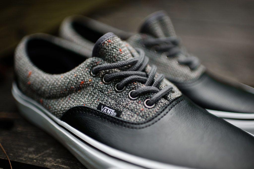 3f58cbb925fb6e Vans Era  Wool Leather  Excalibur Grey   Black