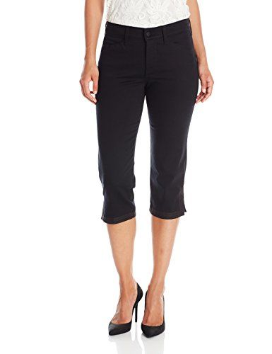 8c428cb5dc4 NYDJ Womens Petite Ariel Crop Jeans with Contrast Stitch Hem Black 6 Petite      Check this awesome product by going to the affiliate link Amazon.com at  the ...