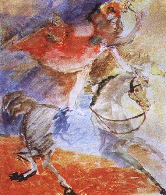 Cirk Cirk Cirk Watercolor Horse Art Henri De Toulouse Lautrec