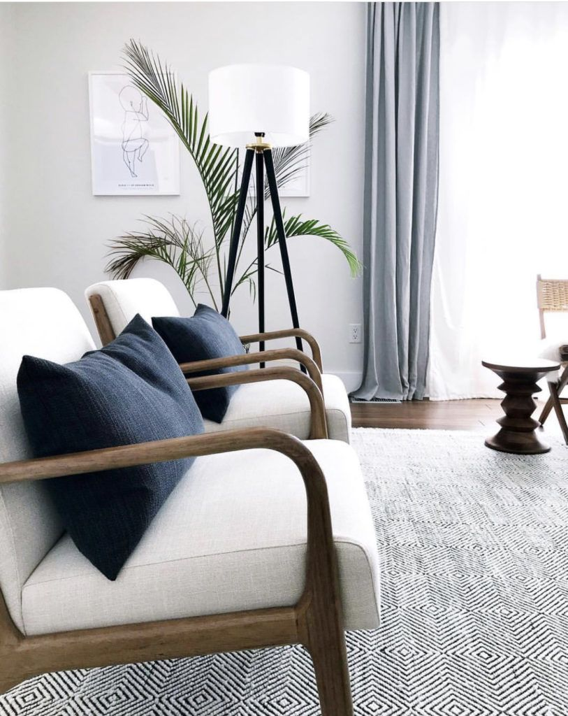 8 Neutral Accent Chairs That Won T Break The Bank Allisa Jacobs Mid Century Modern Living Room Living Decor Modern Living Room #small #living #room #armchairs
