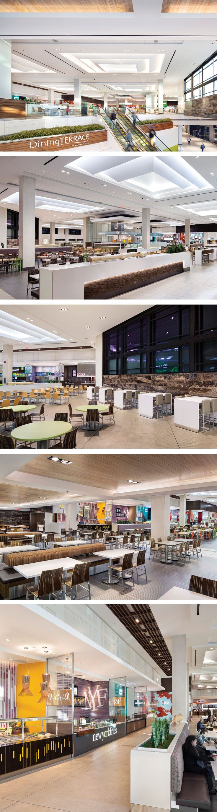 Richmond Centre Dining Terrace In Richmond British Columbia Designed By Gh A In Collaboration With Abbarach A Food Court Design Mall Food Court Mall Design