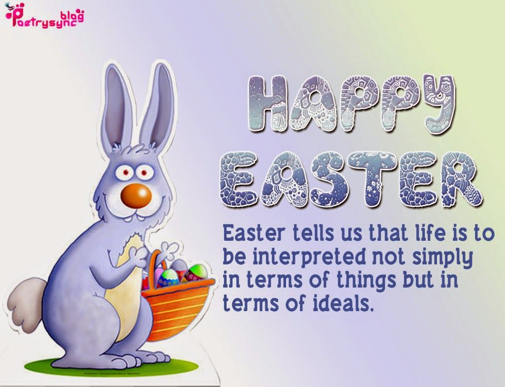 Happy Easter SMS Messages Image with Wishes Easter – Easter Greeting Card Messages
