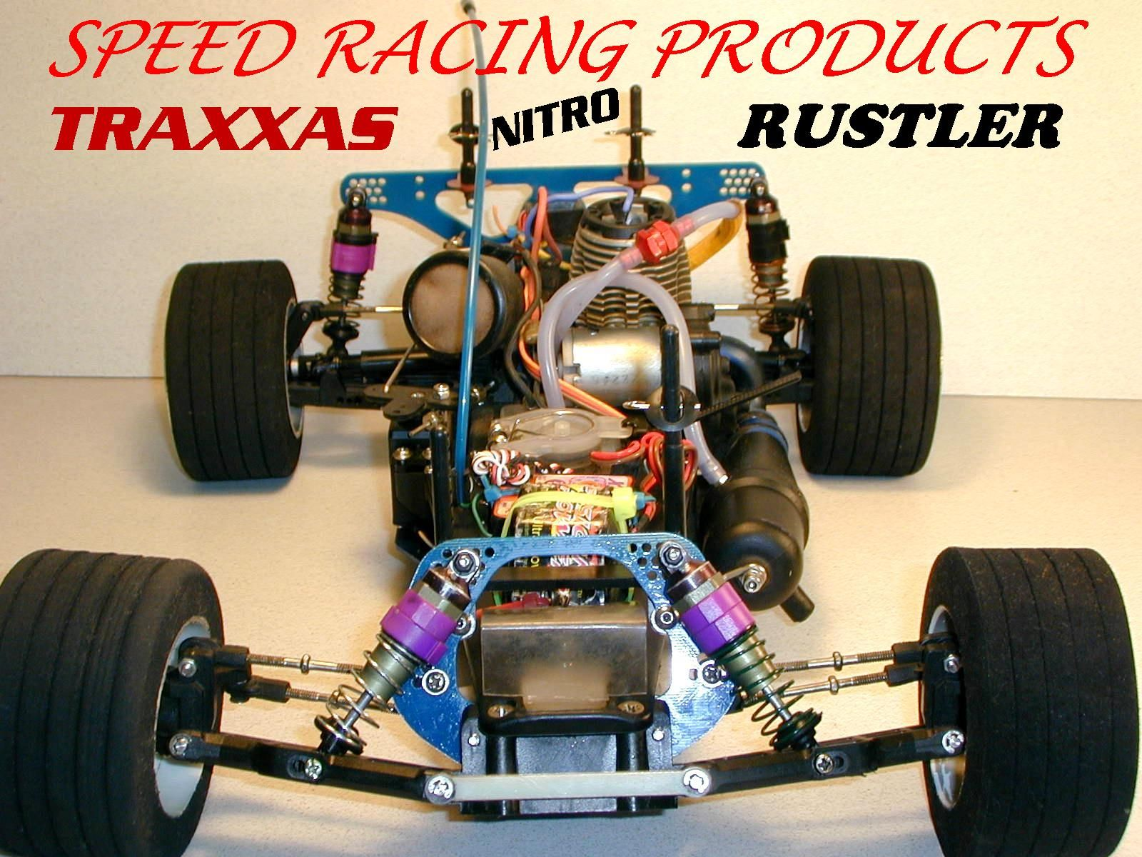 SpeedysRacingPart has the Traxxas Nitro Rustler conversion kit Speed control or Receiver mounting kit and PRM Front Bumper