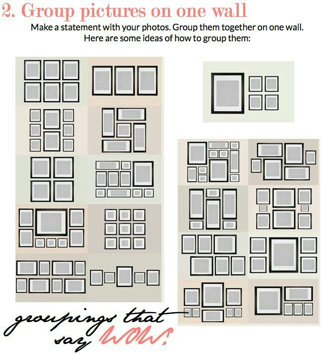 where to hang several picture frames | Home decor | Pinterest | Home ...