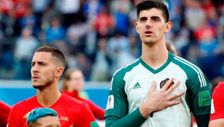 Hazard Y Courtois Hacen Un Guiño Al Madrid Republica Com Madre Hice Portero