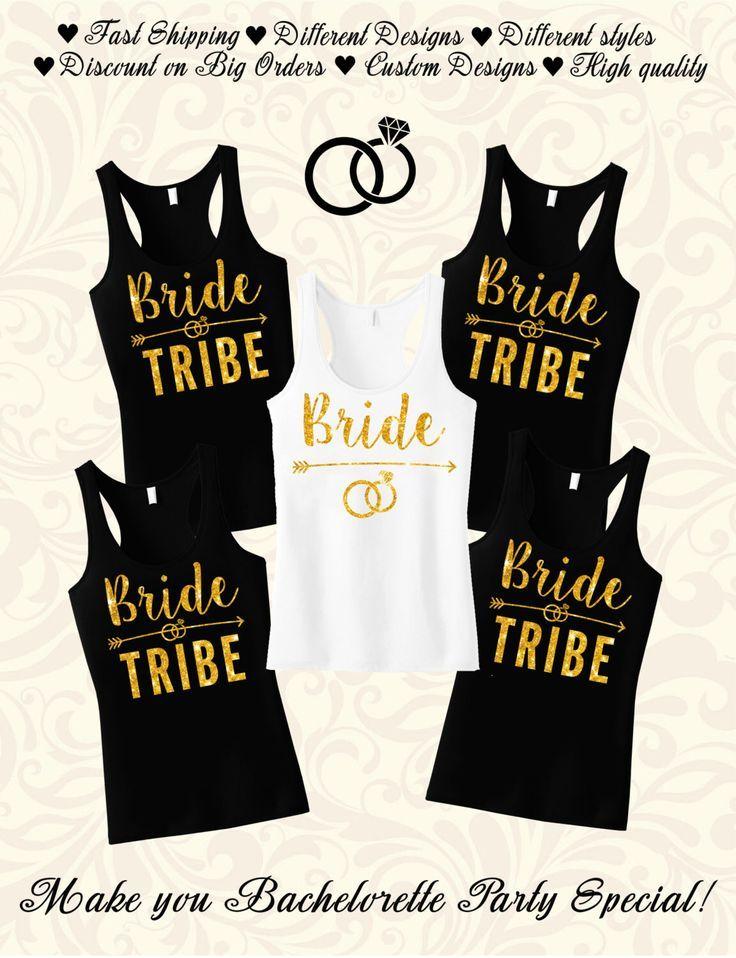 Bride Tribe Bridesmaid Shirt Gift Bachelor Party Shirts Bridal