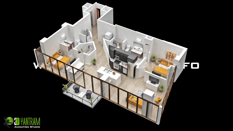 House 3d Floor Plan Design Ideias De Casas Plantas De Casas Plano De Casa