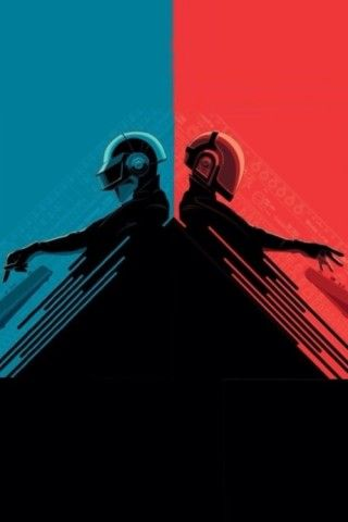 Daft Punk Red And Blue Iphone 5 Wallpaper Daft Punk Punk Art Best Iphone Wallpapers