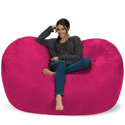 Beau Theater Sacks Bean Bag Sofa Upholstery: Pink