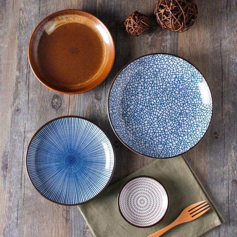 Guaranteed 100 Crackle Glaze Dinnerware Sets Japanese Ceramic Tableware Painting Ceramic Dishes With Ring Vaisselle En Ceramique Vaisselle Ceramiques Peintes