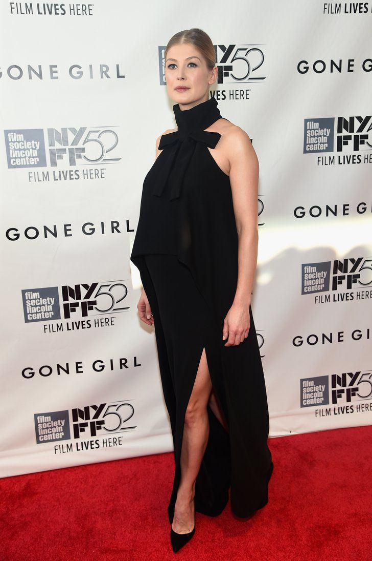 Pin for Later: From Bond Girl to Gone Girl: How Rosamund Pike Won the Award Season Red Carpet Gone Girl Opening Night Gala Presentation and World Premiere