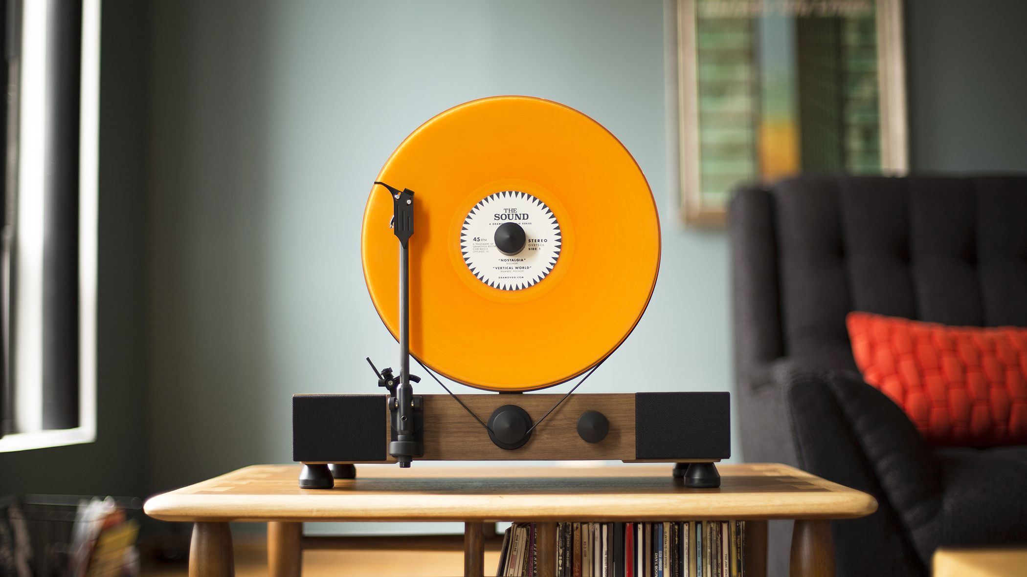 Gramovox Floating Record Vertical Turntable Vinyl Gone Vertical Built In Chicago Record Player Records Vinyl Turntable Tocadiscos Tornamesa Audiovisual