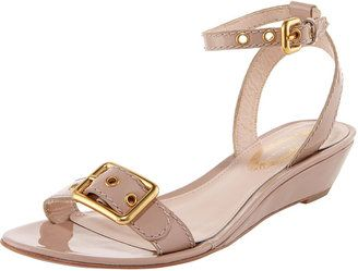 e7a0463d6c8 Simple & Universal, Elie Tahari Maddie Low-Wedge Patent Sandal ...