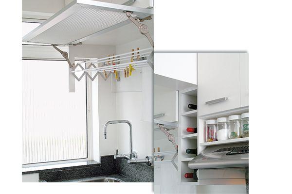 Portal Decoraç u00e3o Cozinha pequena, varal disfarçado Decoraç u00e3o Cozinha Area de serviço