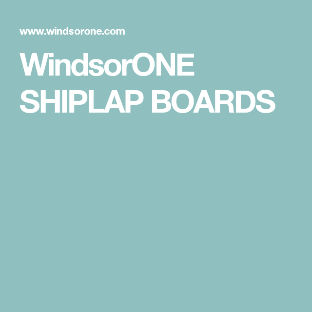 Shiplap Boards Protected With A 30 Year Warranty