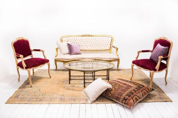 Our Collection Of Vintage And Modern Rental Furnishings Floor Pillows Style Lounge Brass Coffee Table