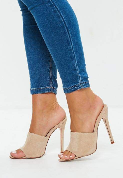 18eeabe5f4a Love these suede heels! Missguided Nude Faux Suede Pointed Toe ...