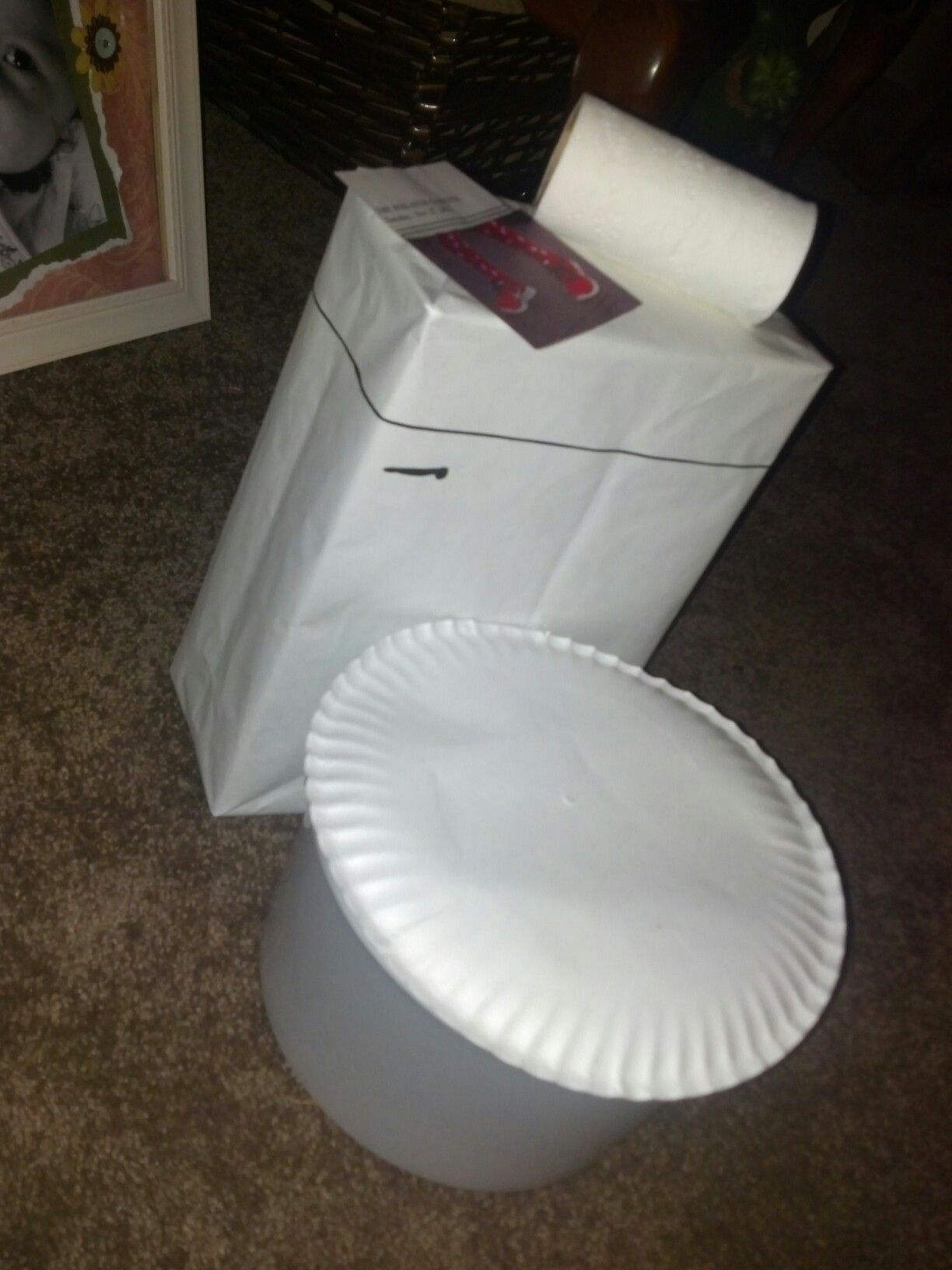 School Bathroom Fixtures caden's valentine's box. don't flush my love down the toilet
