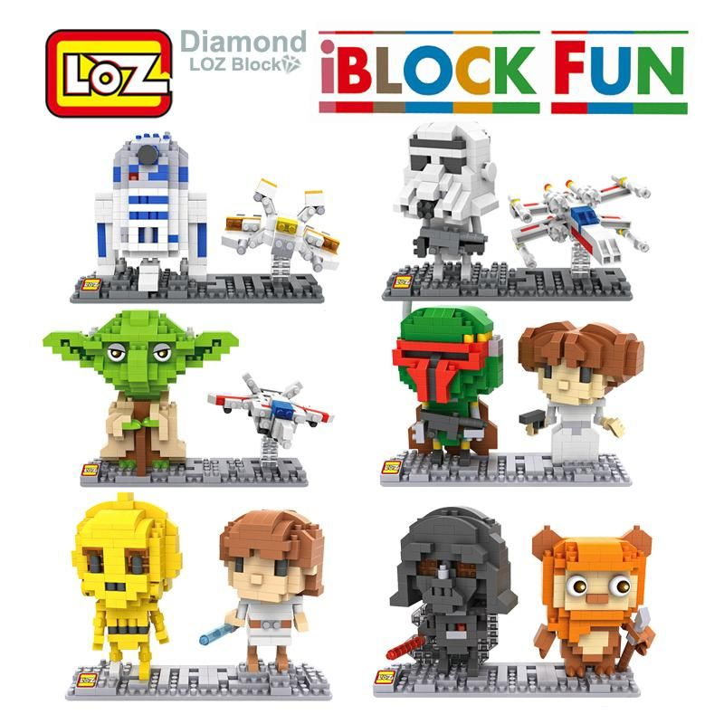 Star Wars Toys Mini Micro Diamond Iblocks blocks Kids Building toys