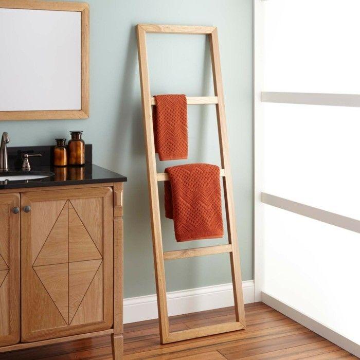 wohnideen für das badezimmer farbige tücher als dekoration im bad
