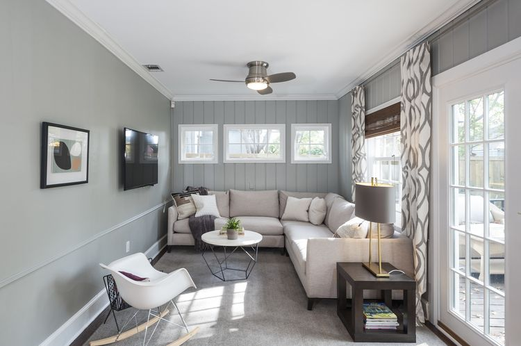 Alexis Pearl Design Living Room Sunroom Tv Room Open
