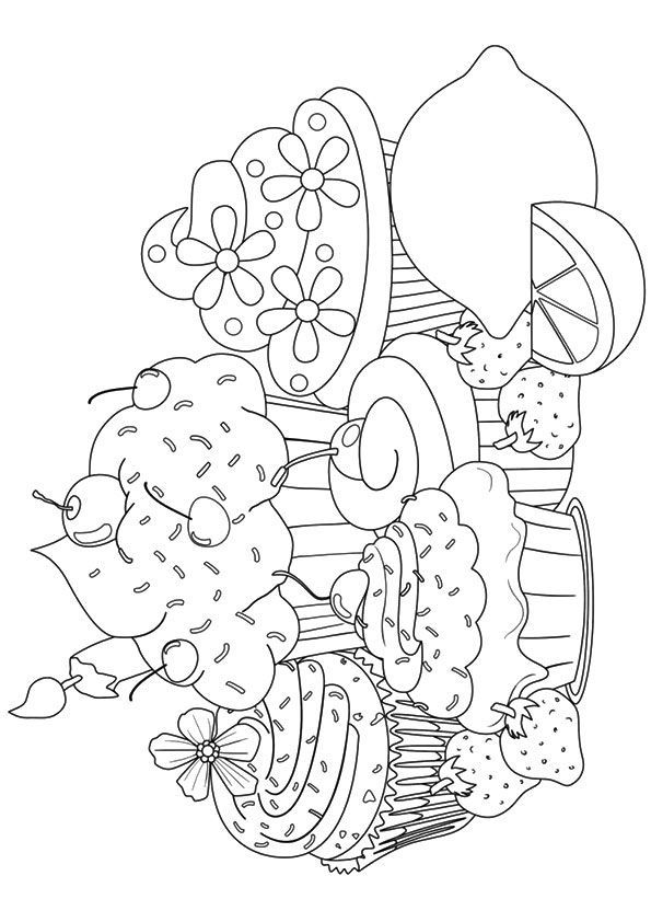 25 Lovely Cupcake Coloring Pages