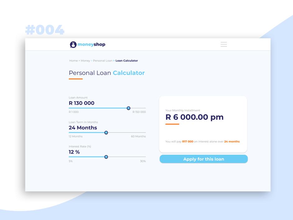 Personal Loans Calculator Personal Loans Loan Calculator Loan