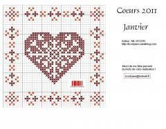 Free pattern, link on craft gossip. I love heart cross stitch. m1_11001_1_janviergrille