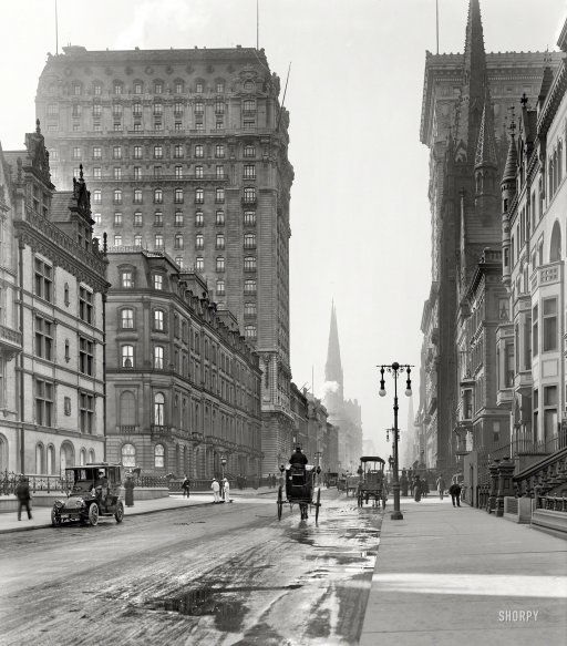 "New York Circa 1905. ""St. Regis And Gotham Hotels"