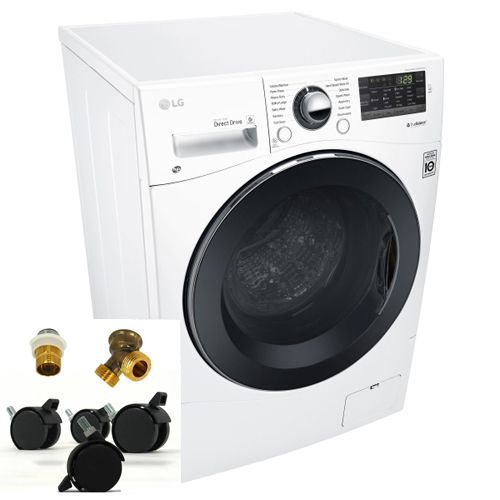 Lg 2 3 Cu Ft Ventless Washer Dryer Combo With Portability Kit Secondary Image Compact Washer Washer Dryer Combo Washer And Dryer