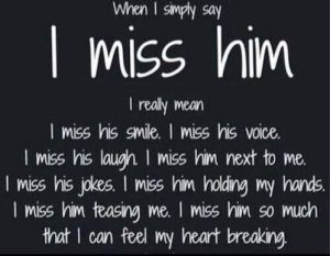 what to tell your boyfriend when you miss him