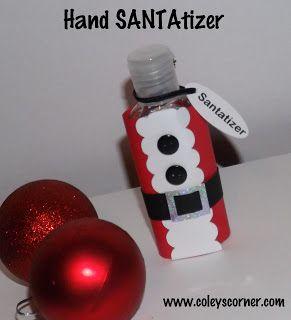 Someday Crafts Santatizer Santa Hand Sanitizer Coworker