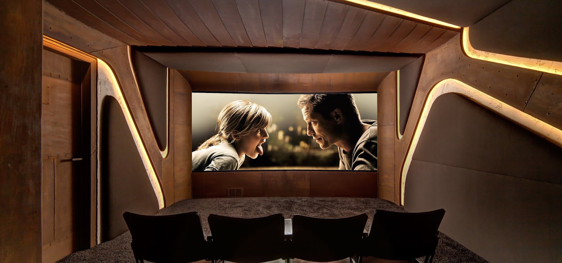 Zumtobel Aphrodite Von Barefoot Design Home Theater Setup Cinema Design Home Cinemas
