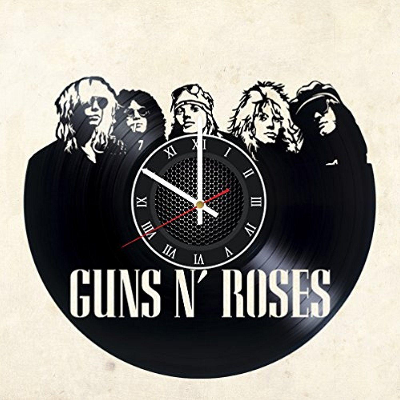 Guns n roses vinyl record wall clock get unique garage wall decor