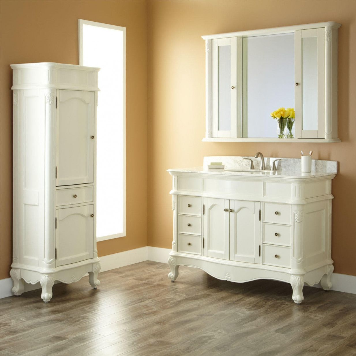 77 Bathroom Vanity And Linen Cabinet Sets Neutral Interior Paint Colors Check More At