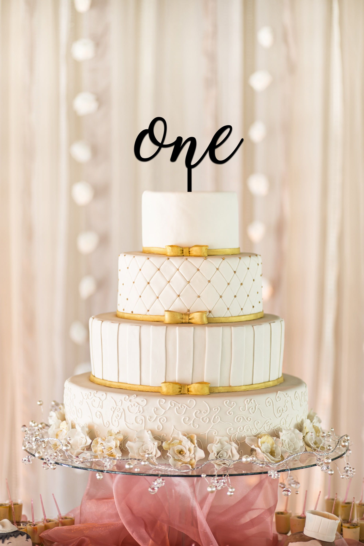 One Cake Topper First Birthday Cake Topper 1st Birthday Smash