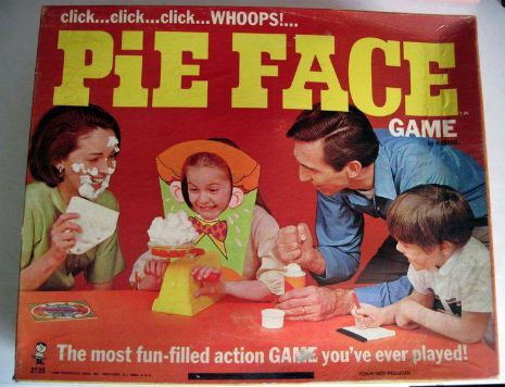 Whats more fun than humiliating yourself in front of friends and hasbros russian roulette style family game pie face why oh why didnt this game make it to the present day solutioingenieria Gallery