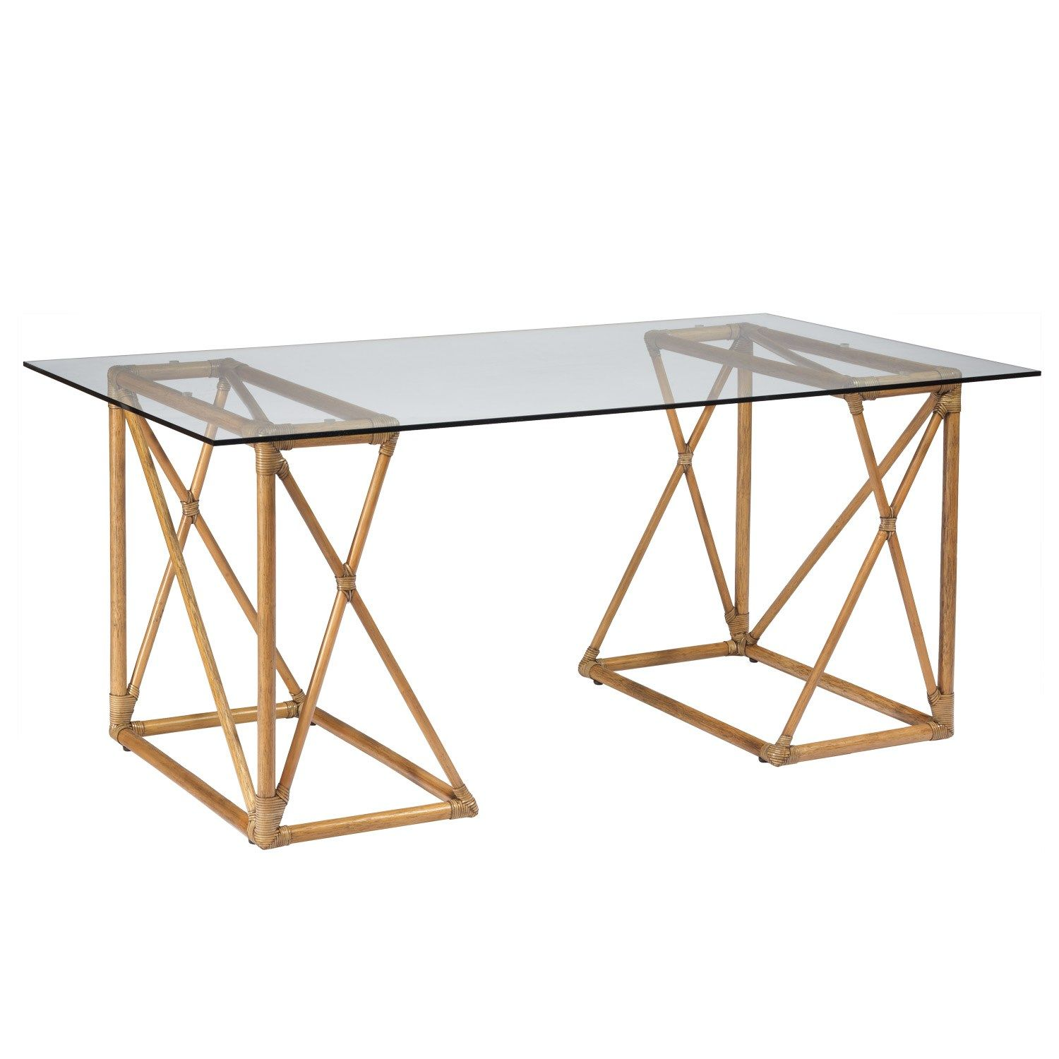 designs of office tables classic this angular nutmeg brown trestle furnishing arranges in two positions for unique desk or small table sustainablygrown rattan riva trestle desk furniture pinterest desk desks and
