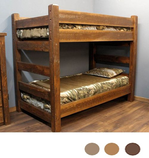 Lodge XL Twin Over XL Twin Barnwood Bunk Bed | Bunk bed ...