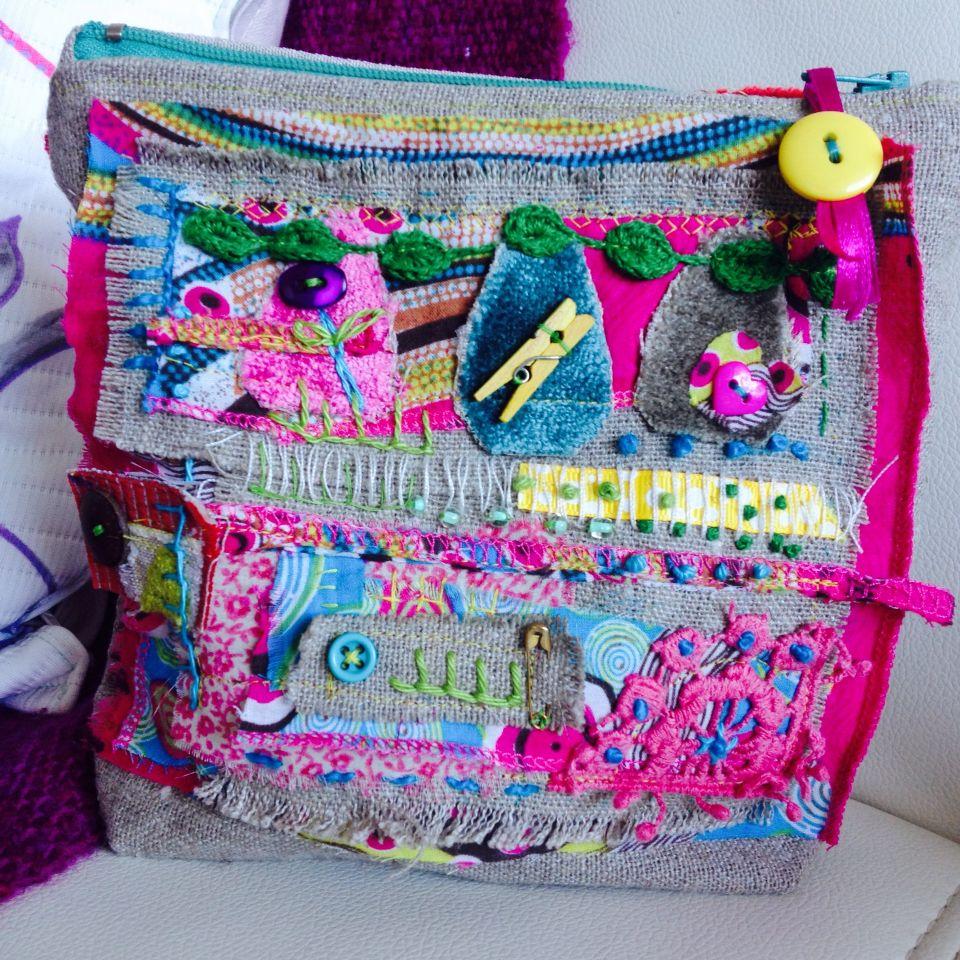Bolsa de telas ,hecha a mano