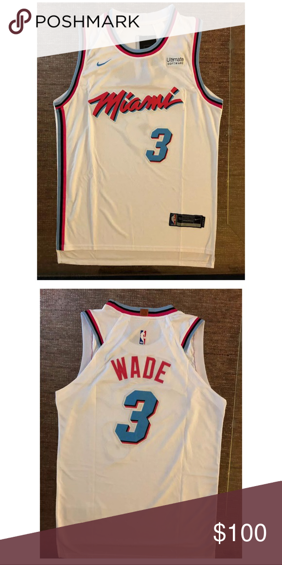 super popular 74c72 72c74 NBA Dwayne Wade Vice City Miami Edition Jersey We only sell ...