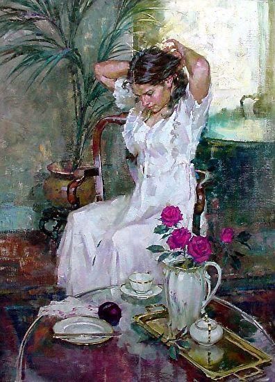 Hannah by John Michael Carter Oil ~ 40 x 30