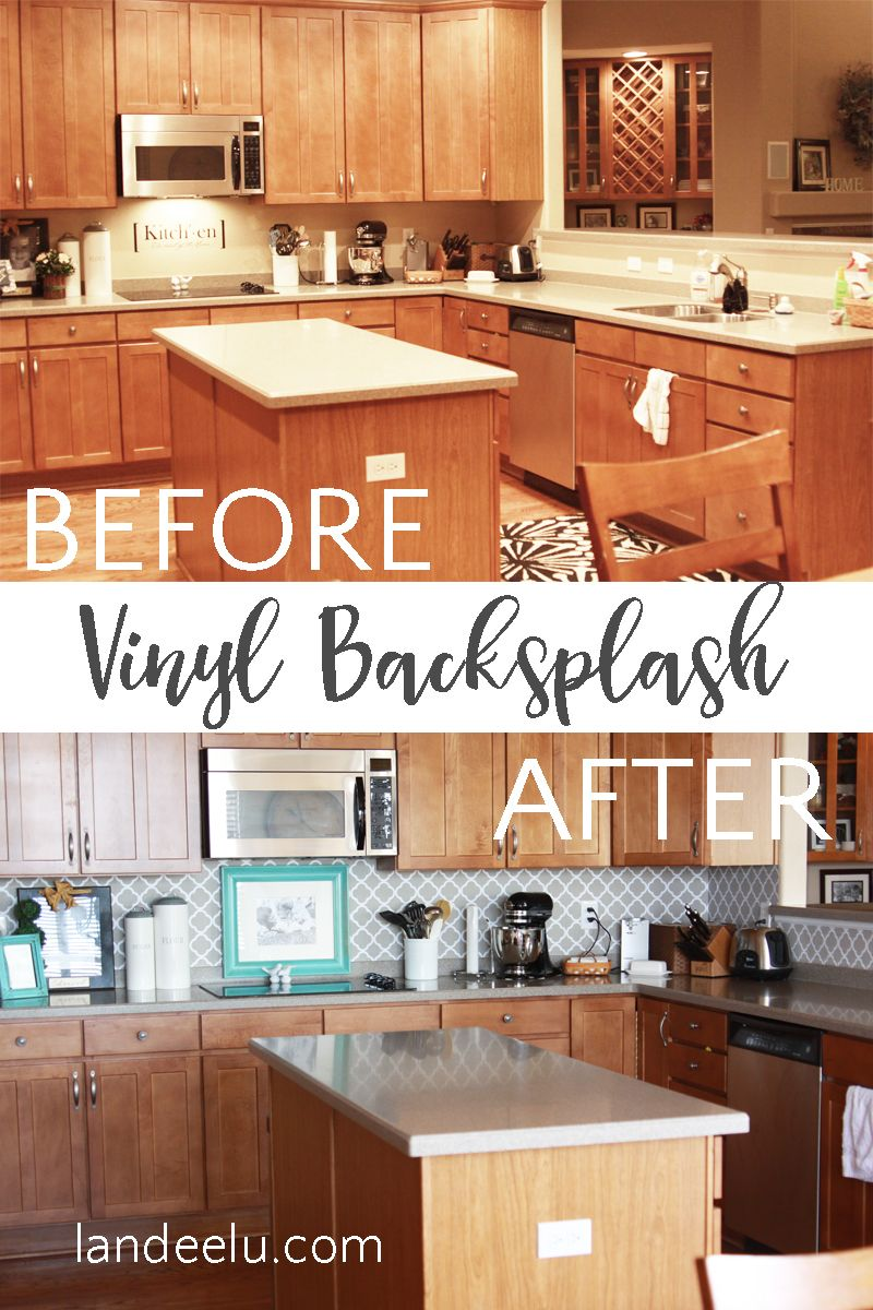 Easy Vinyl Backsplash For The Kitchen Vinyl Backsplash Kitchen