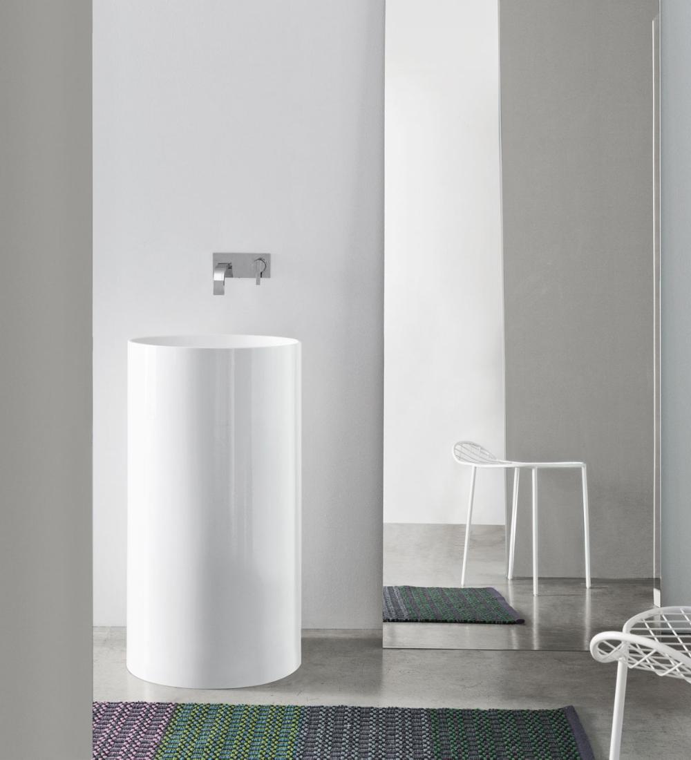 LAVABO OVVIO FREESTANDING 45X85H Wash basin, Bathroom