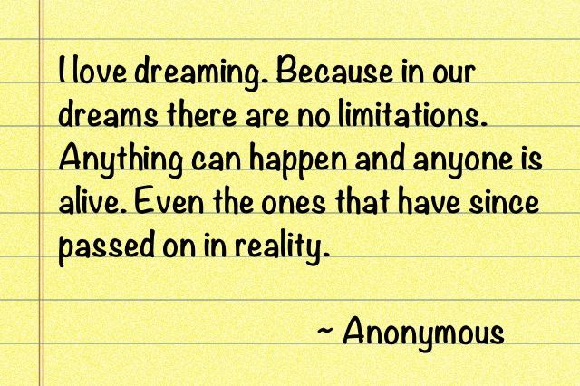 Nice Quote About Dreaming And Death Best Quotes Life