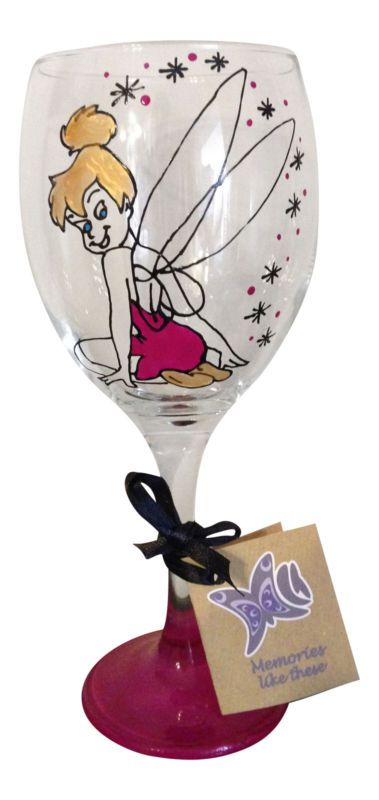 Pink Hand Painted Fairy Wine Glass,Faires Present,Princess Gift, | eBay